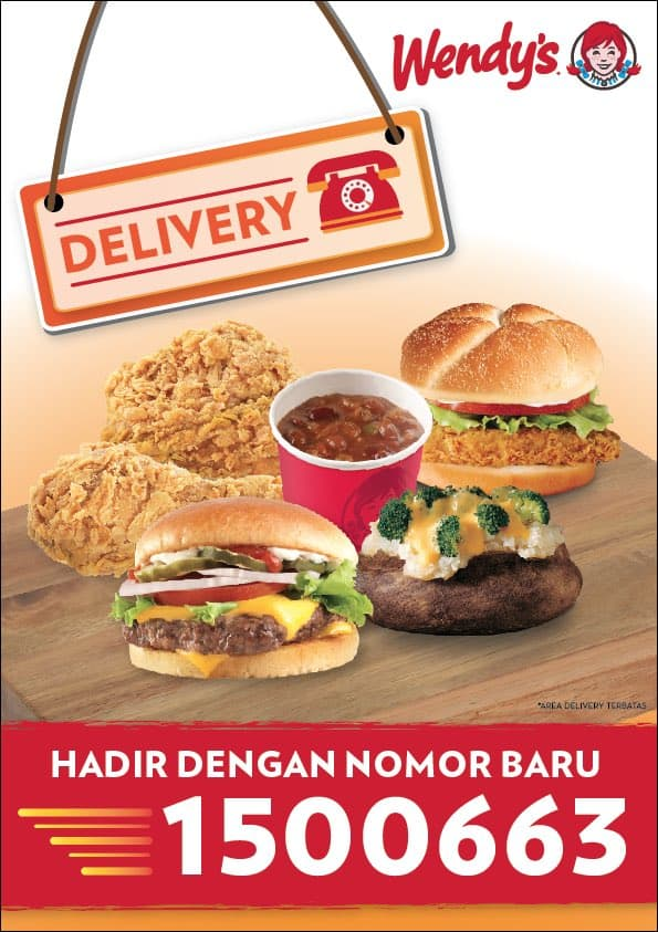 Wendy's Restaurant Promo Delivery Diskon 50%