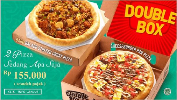 Pizza Hut Promo Double Box 2 Pizza Sedang Apa Saja Hanya Rp. 155.000,-