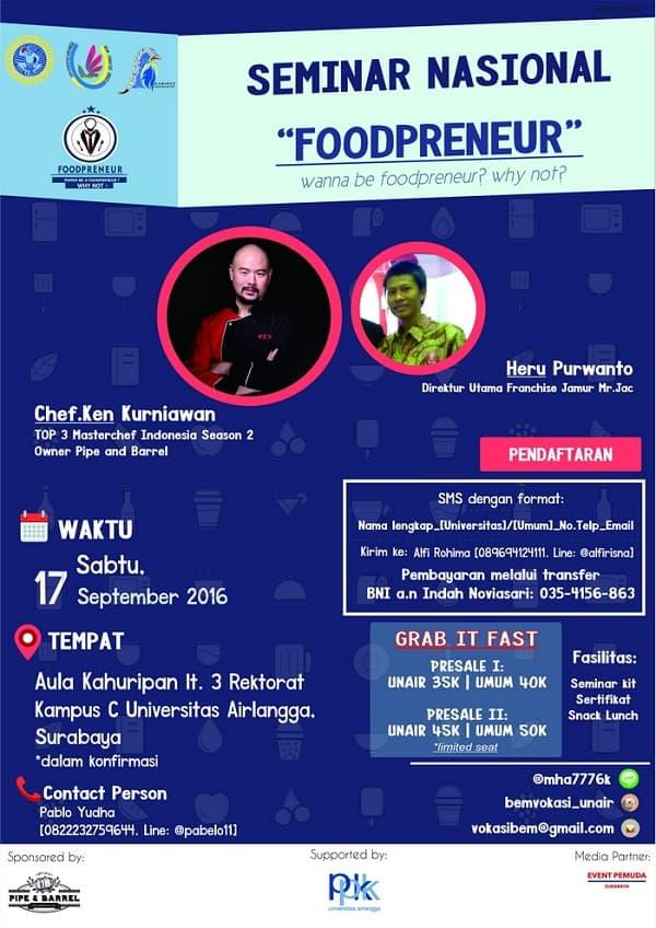 """Seminar Nasional """"Foodpreneur"""""""