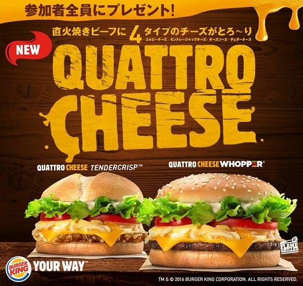 Burger King Promo Quattro Cheese Harga Mulai Rp. 40.000,-