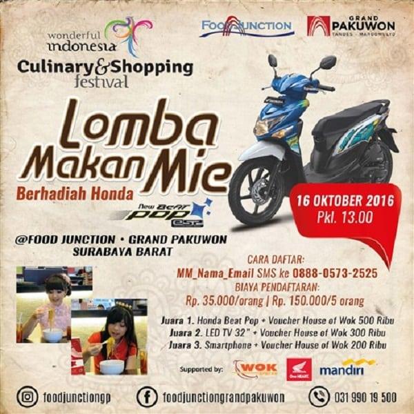 Culinary & Shopping Festival: Lomba Makan Mie Berhadiah Honda