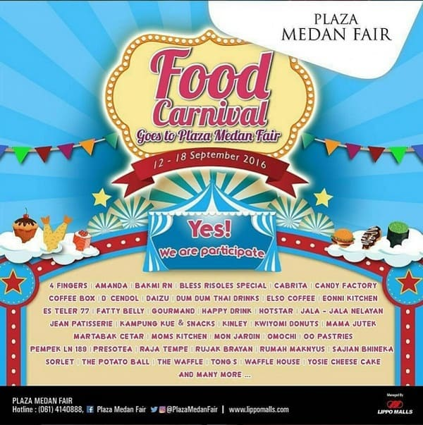Food Carnival: Goes to Plaza Medan Fair
