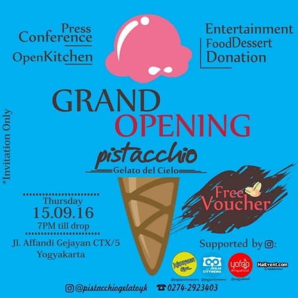 Grand Opening Pistacchio Gelato