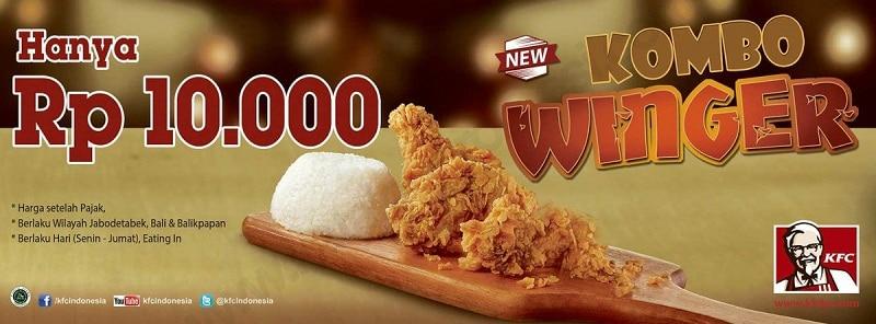KFC Promo New Kombo Winger Hanya Rp. 10.000,-