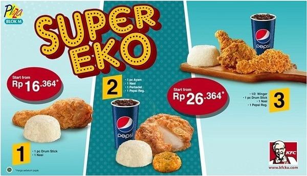 KFC Promo Super Eko Harga Mulai Rp. 16.364,-