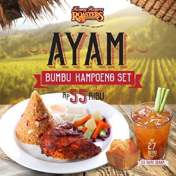 Kenny Rogers Roasters Promo Ayam Bumbu Kampoeng Set Hanya Rp. 55.000,-