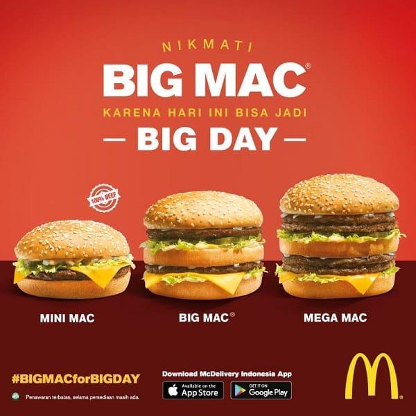 McDonald's Promo BIG Mac for Big Day Harga Mulai Rp. 30.000,-