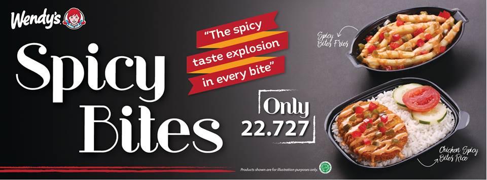 Wendy's Restaurant Promo Spicy Bites Hanya Rp. 22.727,-
