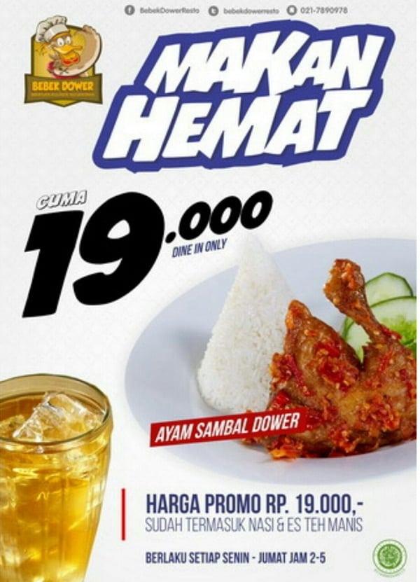 Bebek Dower Promo Makan Hemat Cuma Rp. 19.000,-