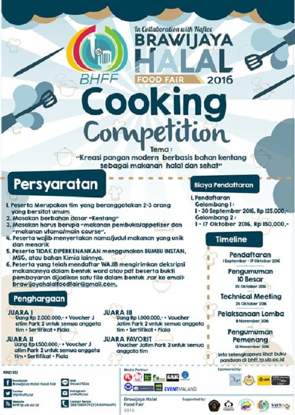 Brawijaya Halal Food Fair 2016: Cooking Competition