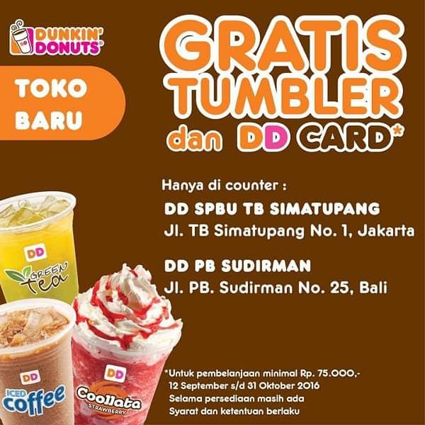 Dunkin Donuts Promo Gratis Tumbler dan DD Card