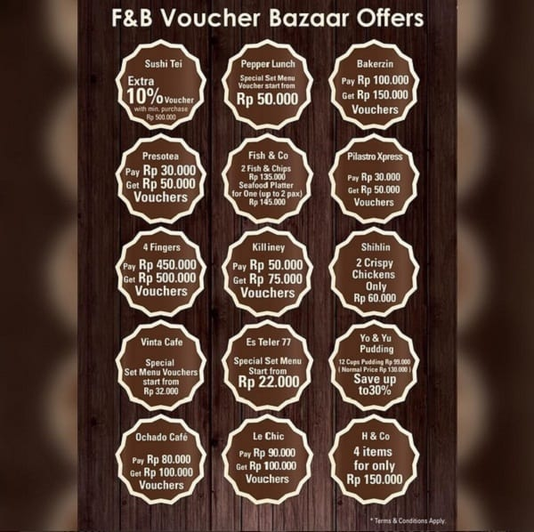 F&B Voucher Bazaar Offers di Sun Plaza Medan