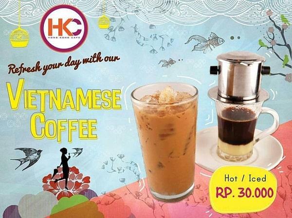 Hong Kong Cafe Promo Vietnamese Coffee Hanya Rp. 30.000,-