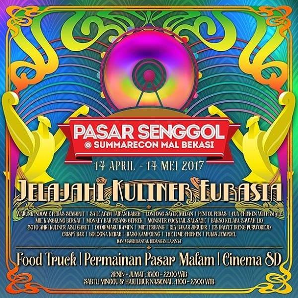 Pasar Senggol 2017: Jelajah Kuliner Eurasia