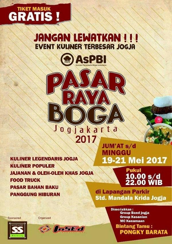 Pasar Raya Boga Jogjakarta 2017