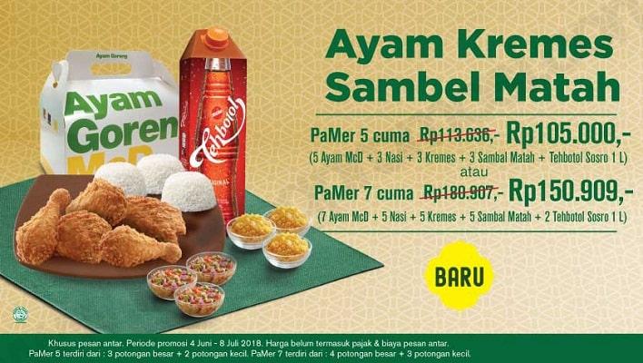 McDonald's Promo Ayam Kremes Sambel Matah