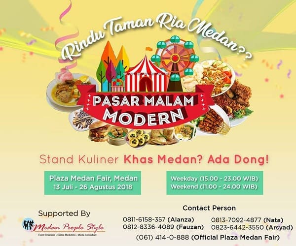 Pasar Malam Modern di Taman Ria Medan