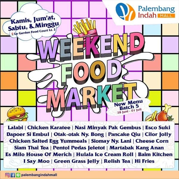 Weekend Food Market di Palembang Indah Mall