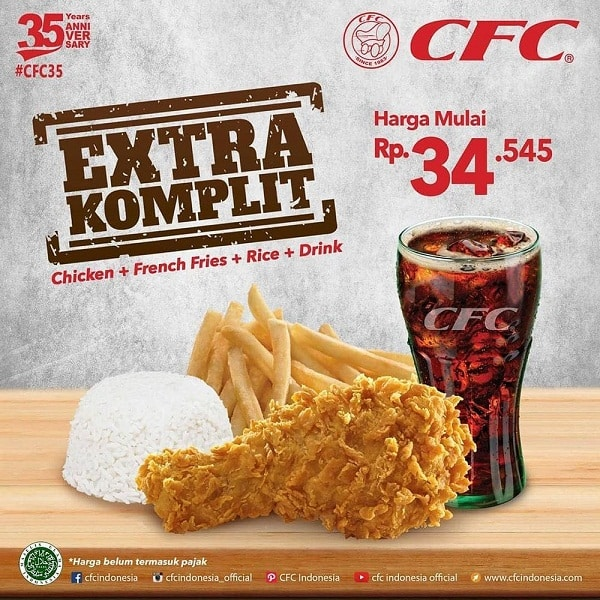 CFC Promo Extra Komplit Harga Mulai Rp. 34.545,-
