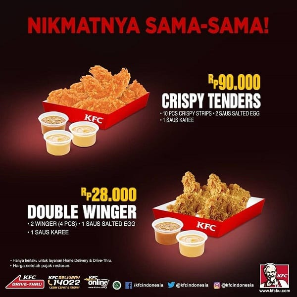 KFC Promo Special Delivery Crispy Tenders dan Double Winger