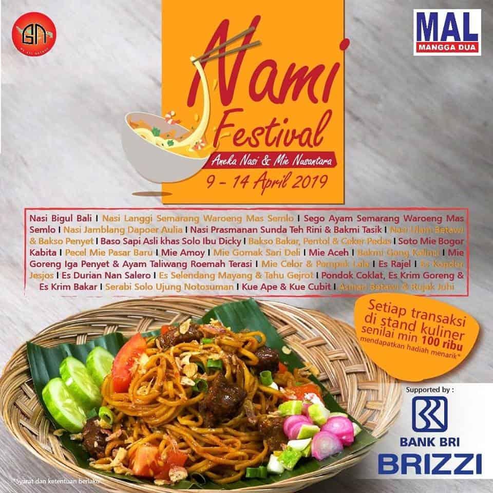 NaMi Festival (Aneka Nasi dan Mie Nusantara)