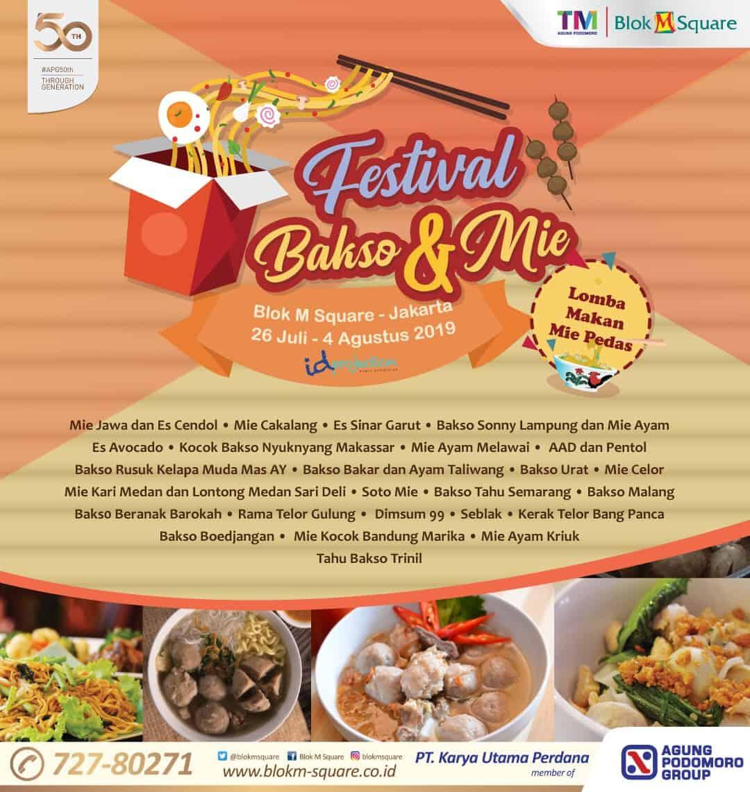 Festival Bakso & Mie Blok M Square
